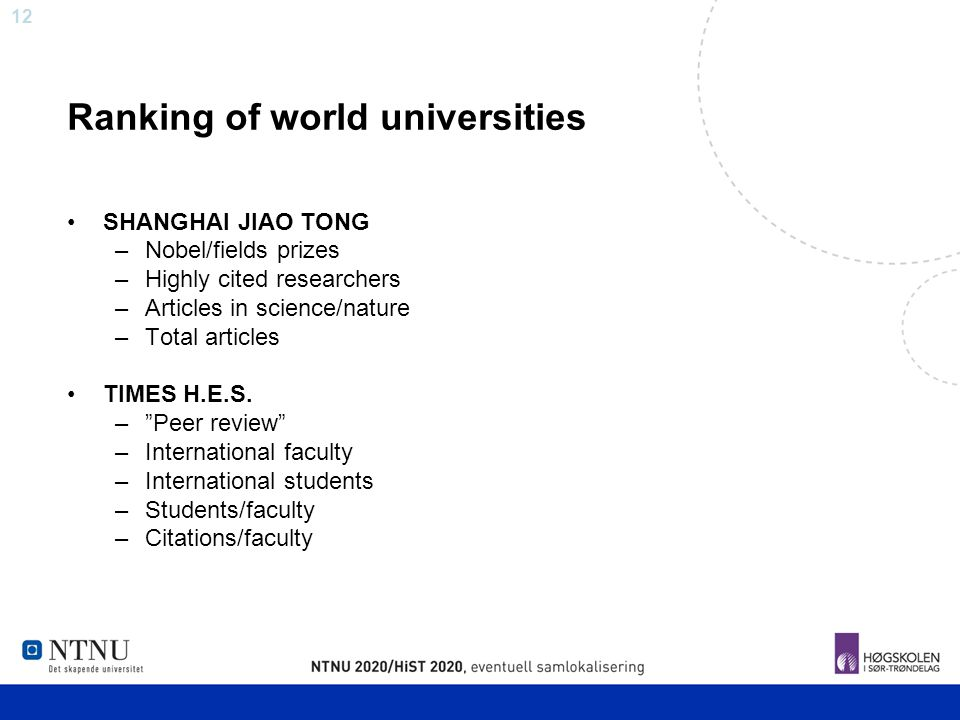 Ranking of world universities