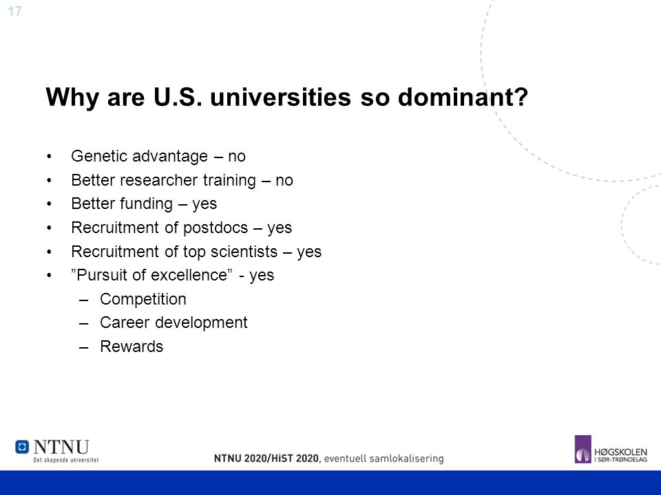 Why are U.S. universities so dominant