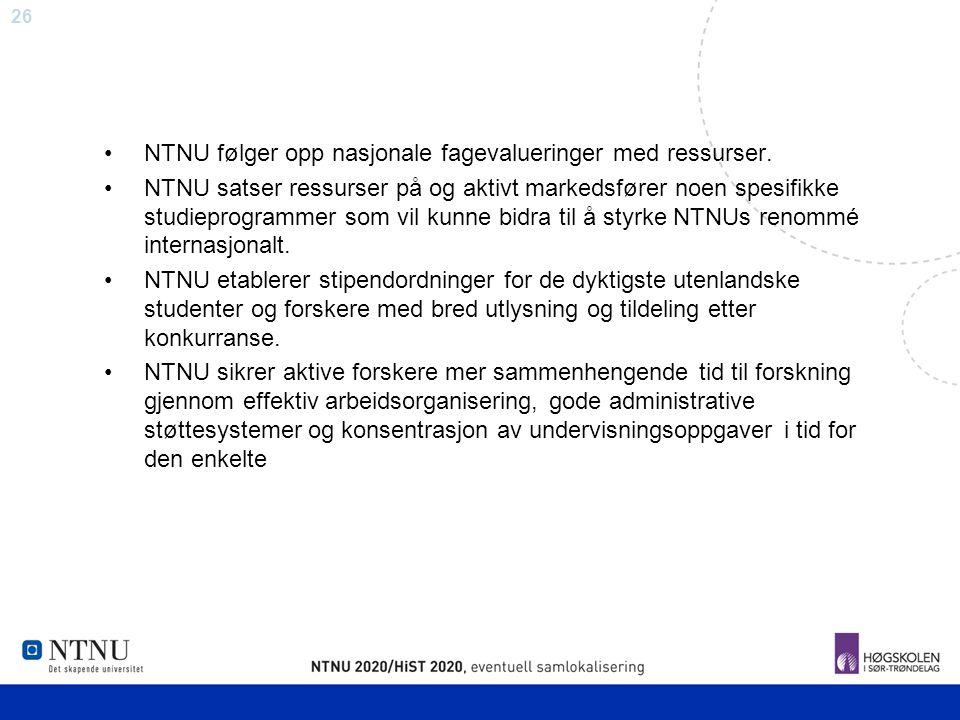 NTNU følger opp nasjonale fagevalueringer med ressurser.