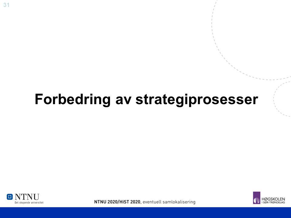 Forbedring av strategiprosesser