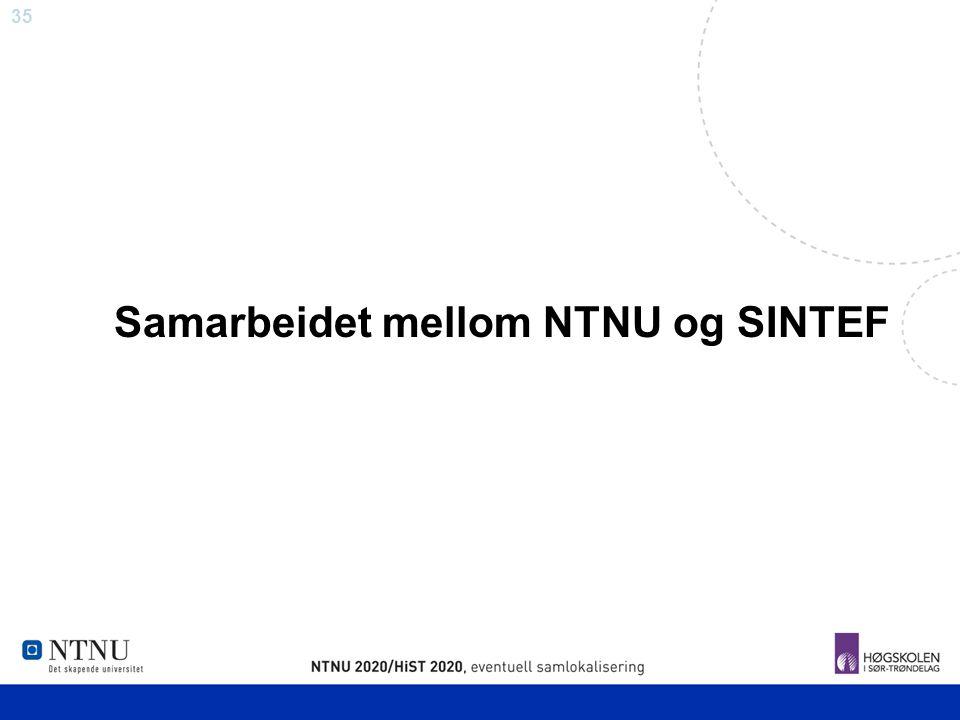 Samarbeidet mellom NTNU og SINTEF