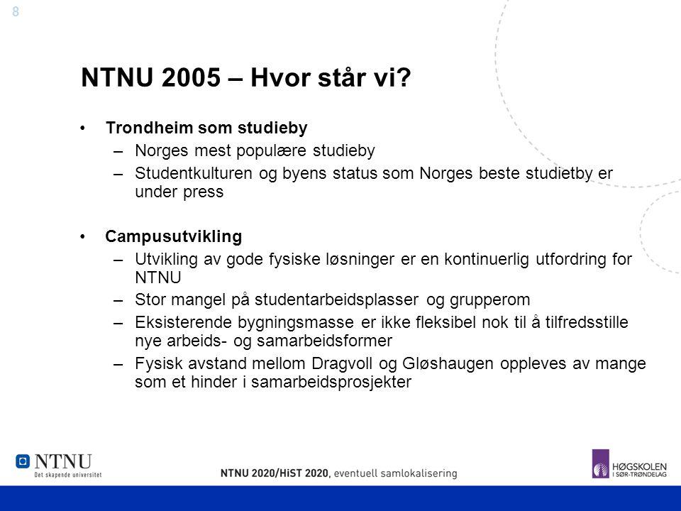 NTNU 2005 – Hvor står vi Trondheim som studieby