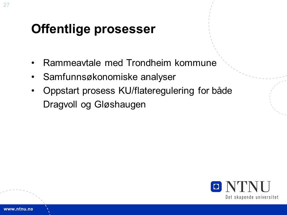 Offentlige prosesser Rammeavtale med Trondheim kommune