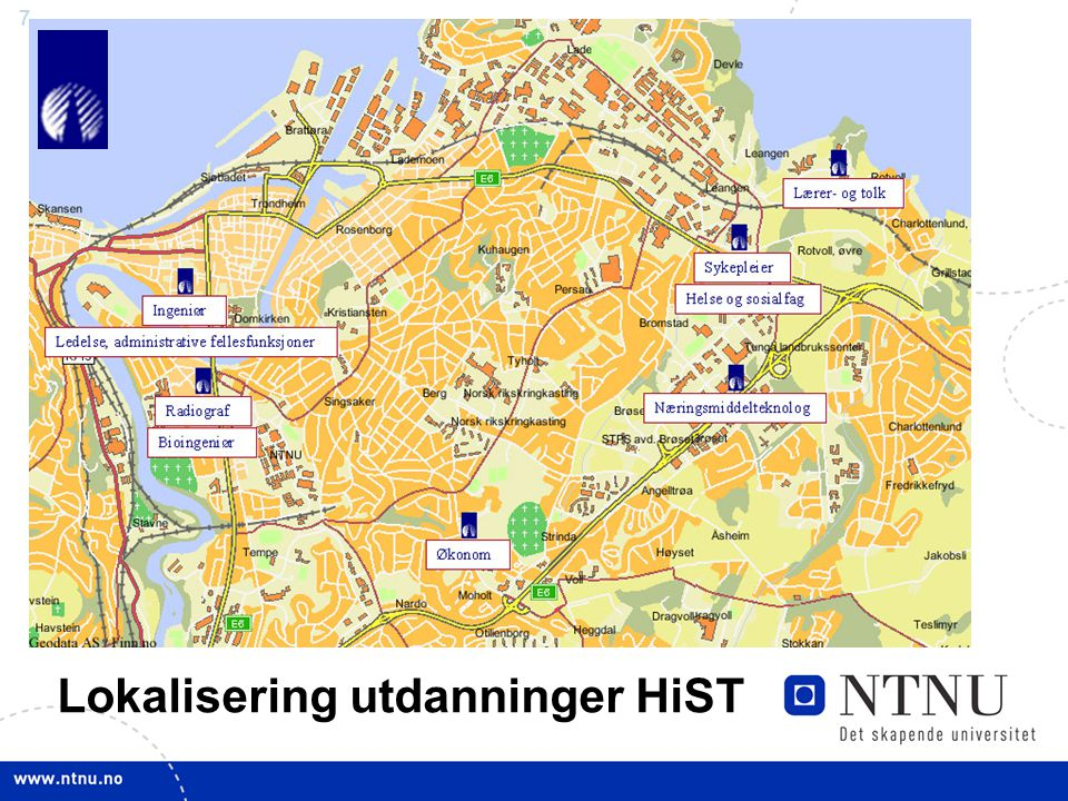 Lokalisering utdanninger HiST