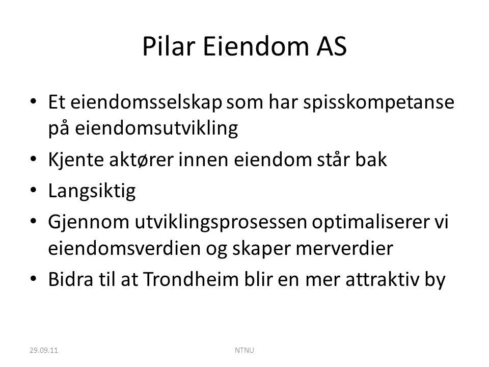 Pilar Eiendom AS Et eiendomsselskap som har spisskompetanse på eiendomsutvikling. Kjente aktører innen eiendom står bak.
