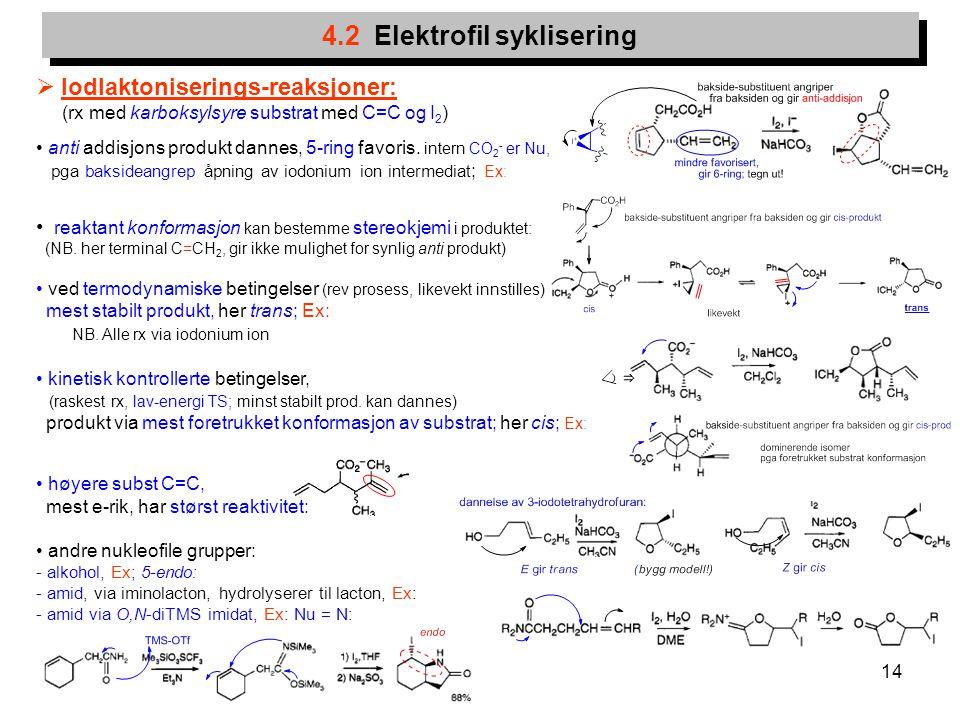 4.2 Elektrofil syklisering