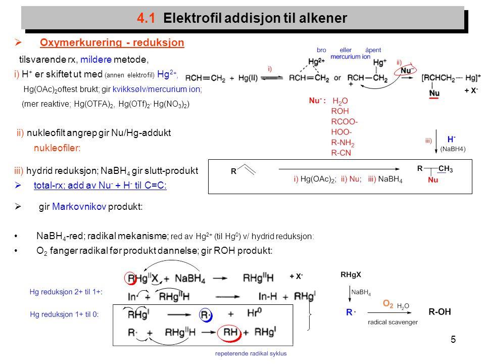 4.1 Elektrofil addisjon til alkener