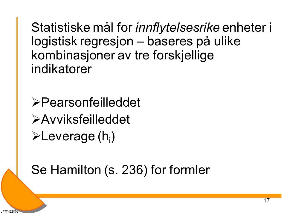 Se Hamilton (s. 236) for formler