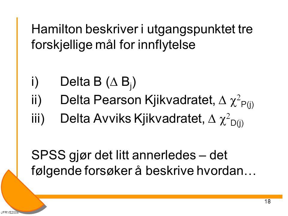 ii) Delta Pearson Kjikvadratet, D c2P(j)