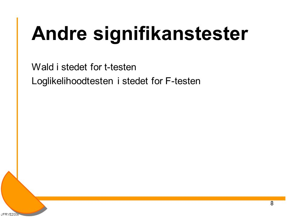 Andre signifikanstester
