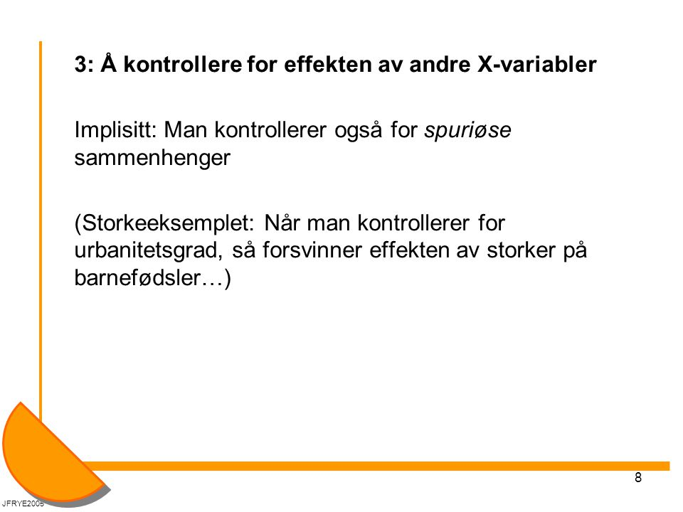 3: Å kontrollere for effekten av andre X-variabler