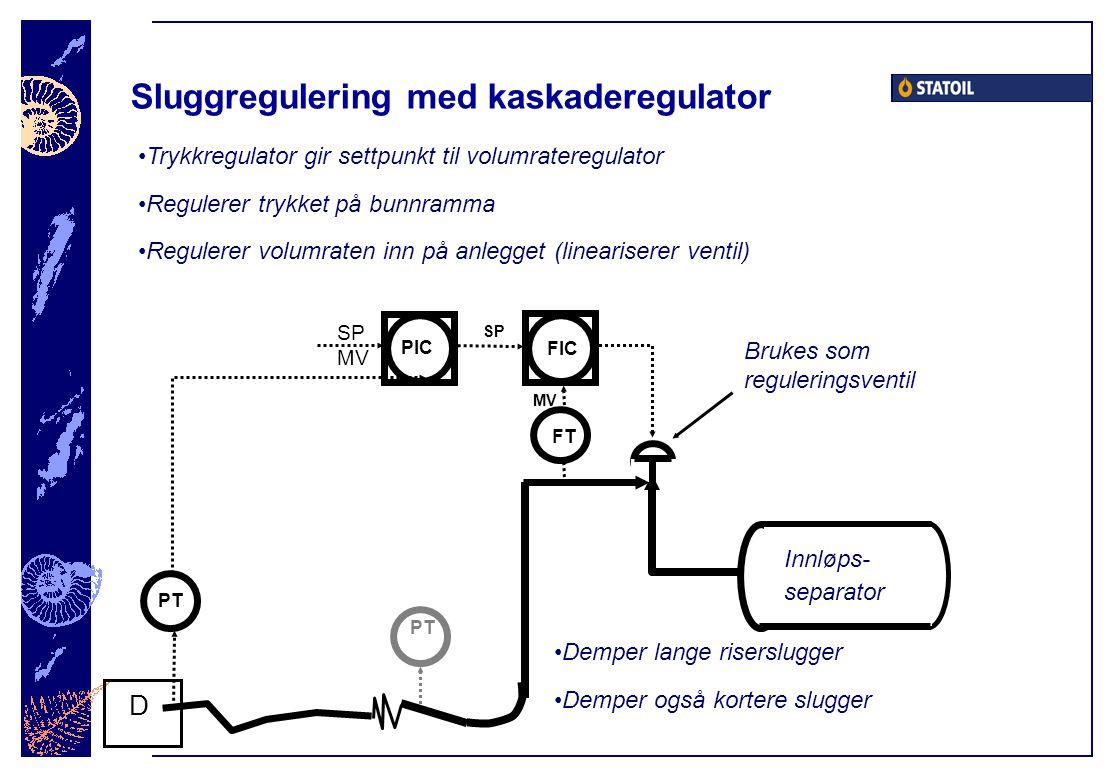 Sluggregulering med kaskaderegulator