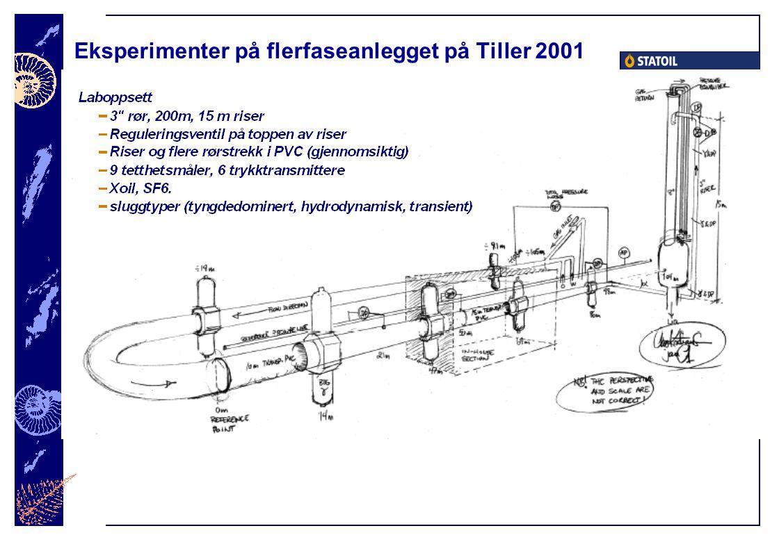 Eksperimenter på flerfaseanlegget på Tiller 2001