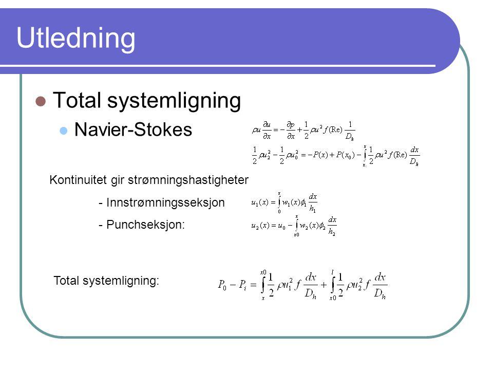 Utledning Total systemligning Navier-Stokes