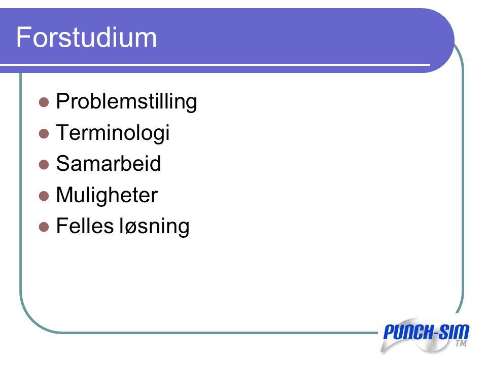 Forstudium Problemstilling Terminologi Samarbeid Muligheter