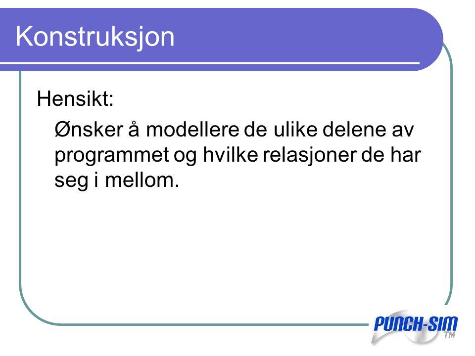 Konstruksjon Hensikt:
