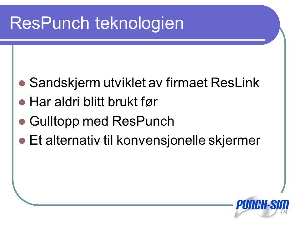 ResPunch teknologien Sandskjerm utviklet av firmaet ResLink