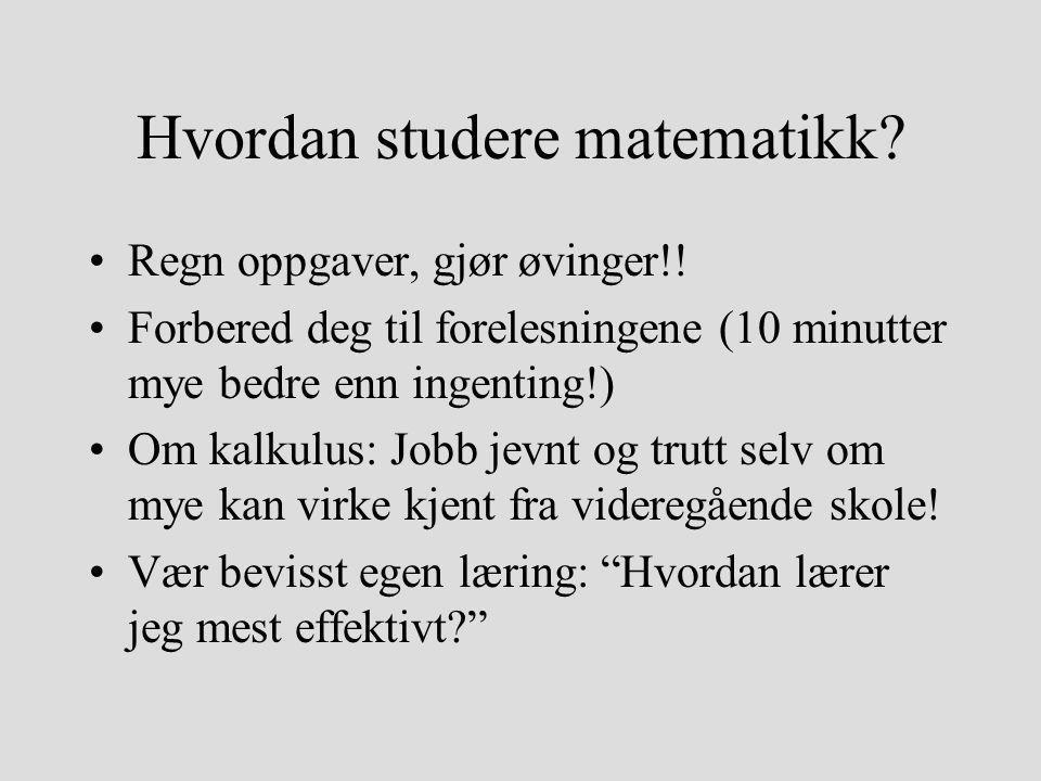 Hvordan studere matematikk
