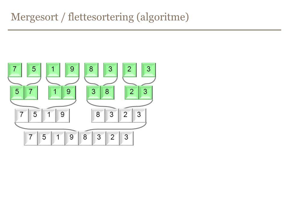 Mergesort / flettesortering (algoritme)