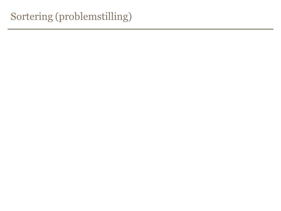 Sortering (problemstilling)