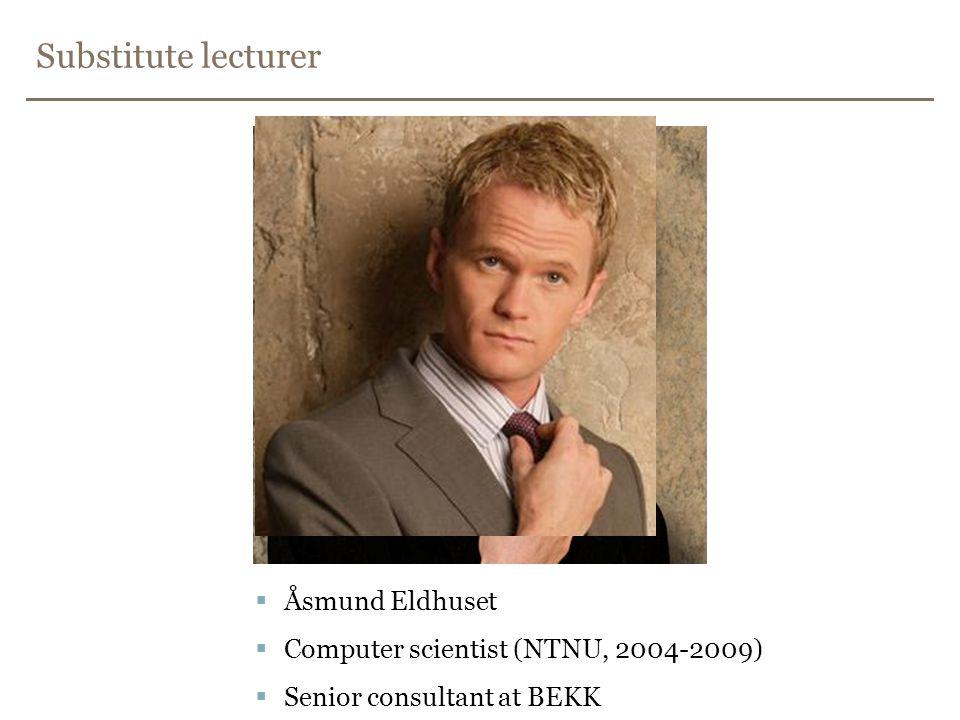 Substitute lecturer Åsmund Eldhuset