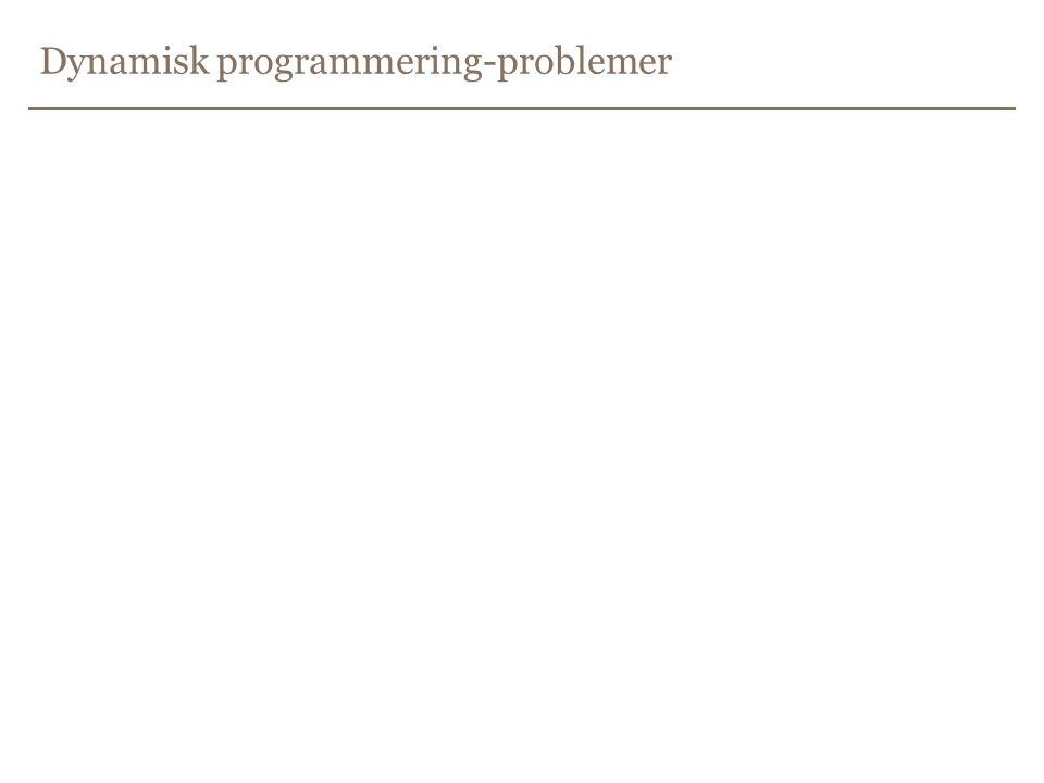 Dynamisk programmering-problemer