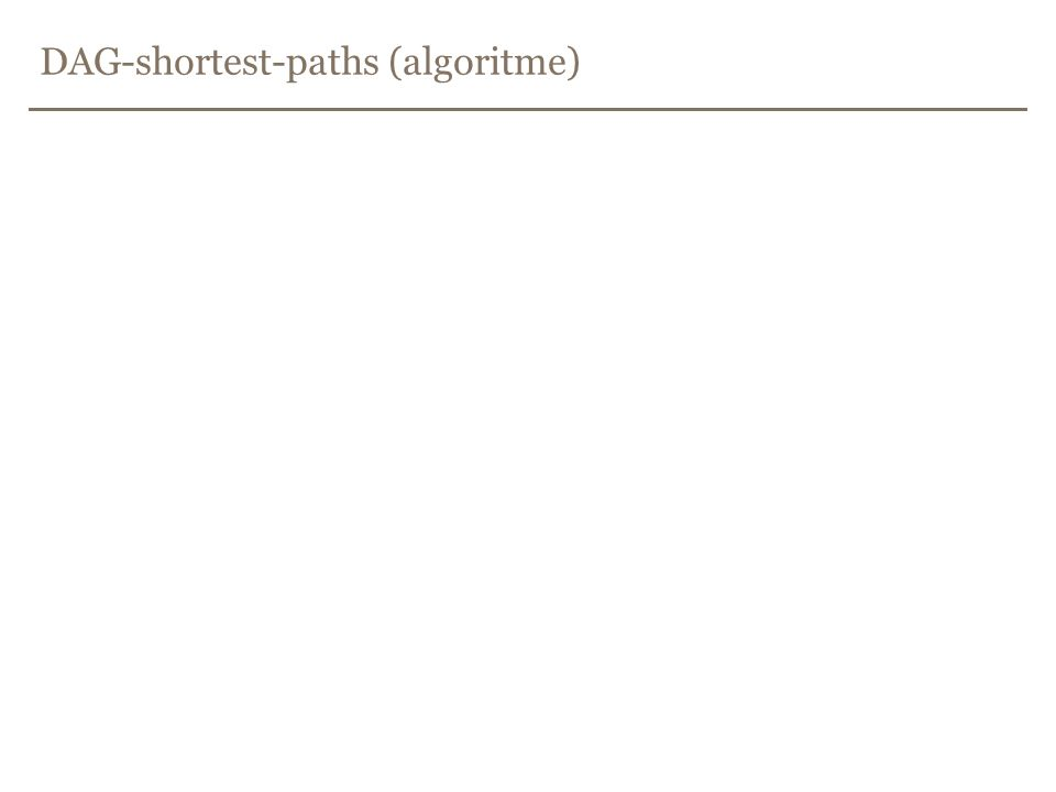 DAG-shortest-paths (algoritme)