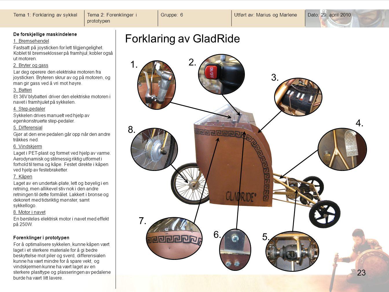 Forklaring av GladRide