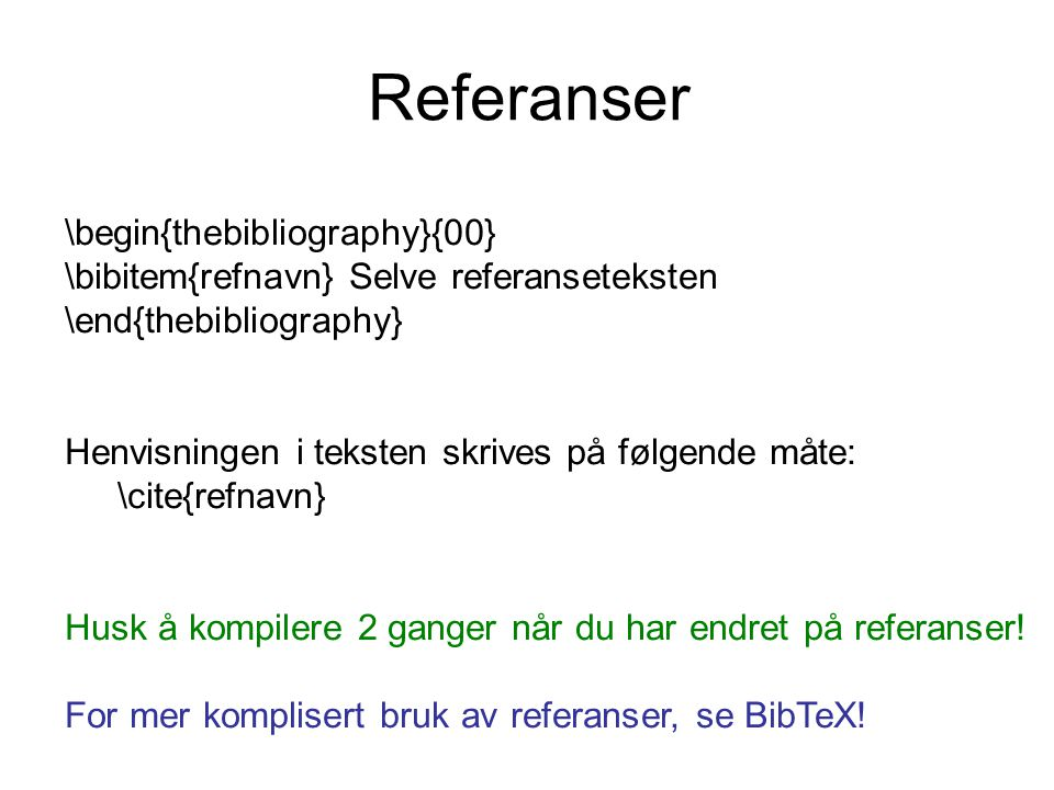 Referanser \begin{thebibliography}{00}