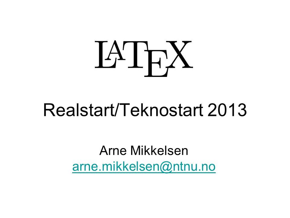 Realstart/Teknostart 2013