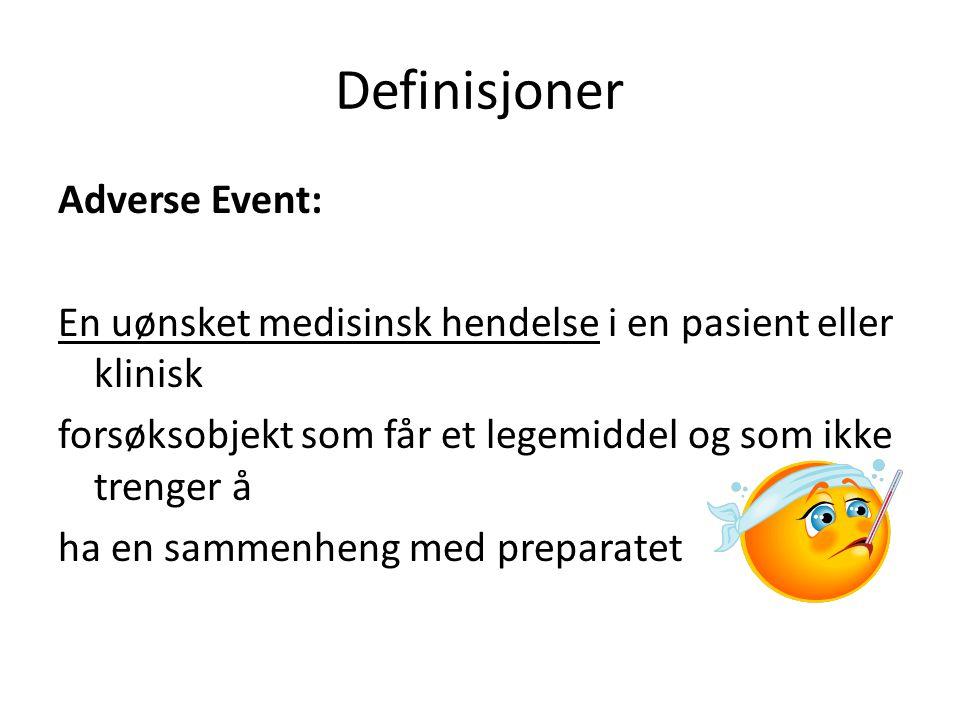 Definisjoner Adverse Event: