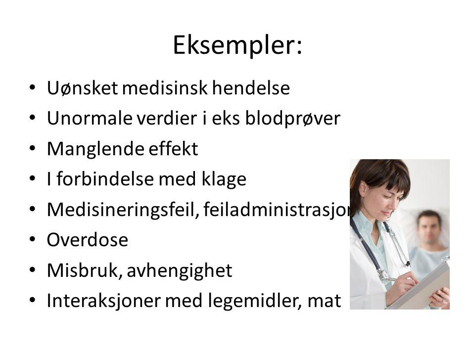 Eksempler: Uønsket medisinsk hendelse