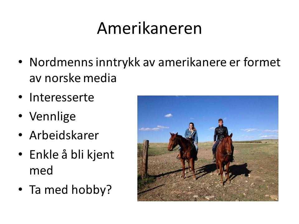 Amerikaneren Nordmenns inntrykk av amerikanere er formet av norske media. Interesserte. Vennlige.