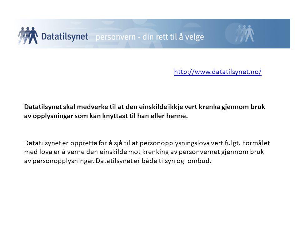 http://www.datatilsynet.no/
