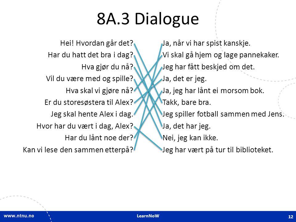 8A.3 Dialogue