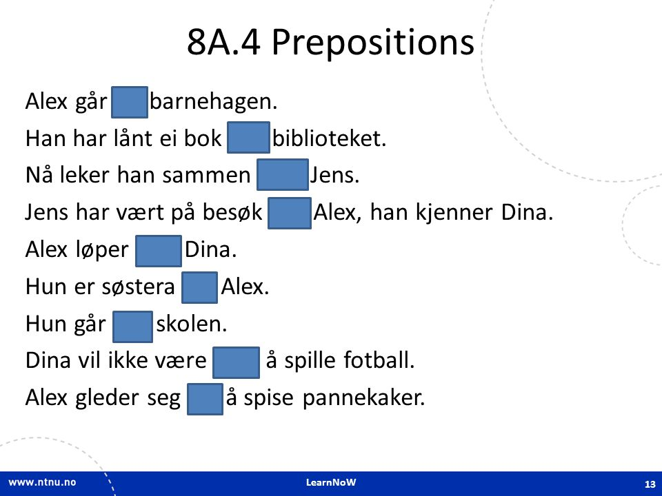 8A.4 Prepositions