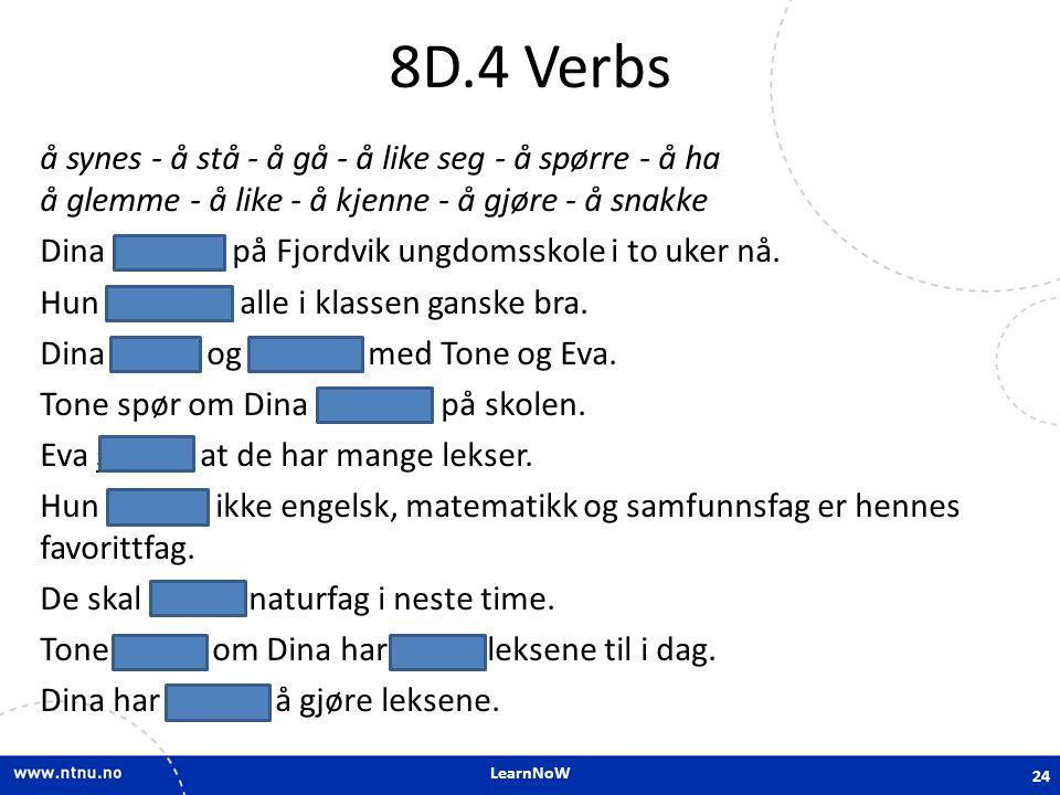 8D.4 Verbs