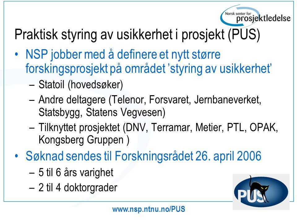 Praktisk styring av usikkerhet i prosjekt (PUS)