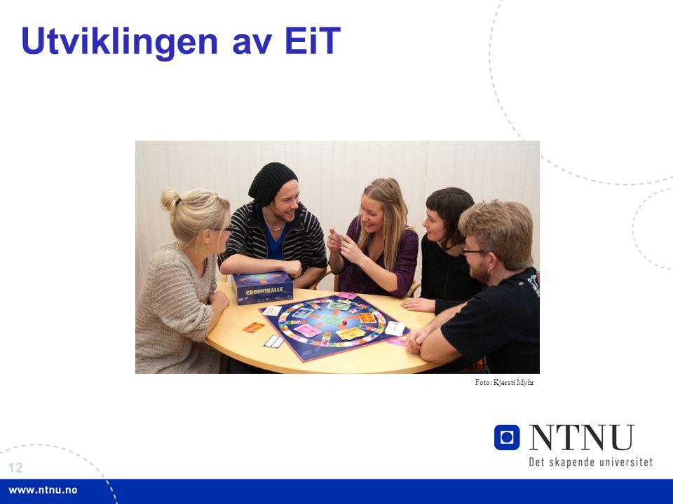 Utviklingen av EiT Foto: Kjersti Myhr