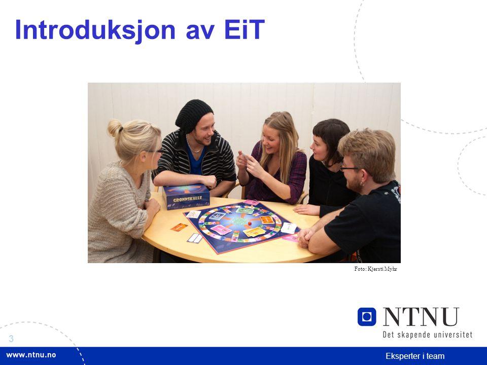 Introduksjon av EiT Foto: Kjersti Myhr