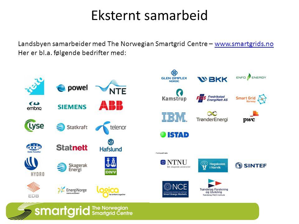 Eksternt samarbeid Landsbyen samarbeider med The Norwegian Smartgrid Centre – www.smartgrids.no.