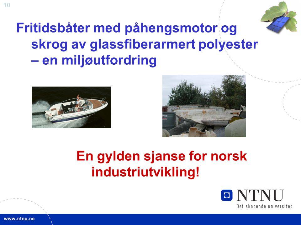 Fritidsbåter med påhengsmotor og skrog av glassfiberarmert polyester – en miljøutfordring