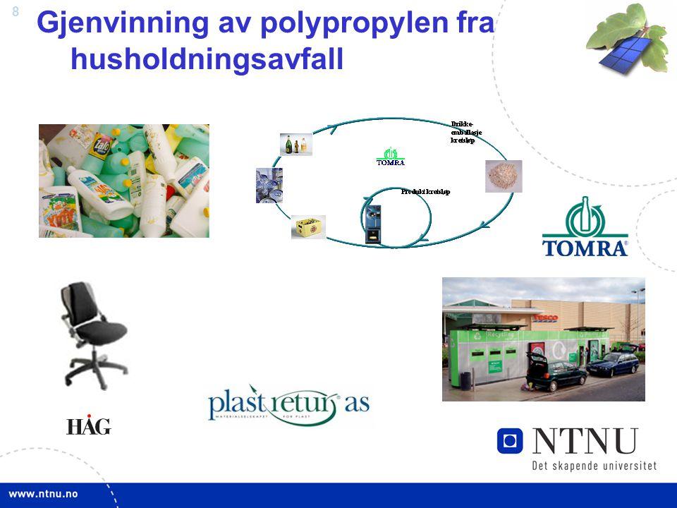 Gjenvinning av polypropylen fra husholdningsavfall