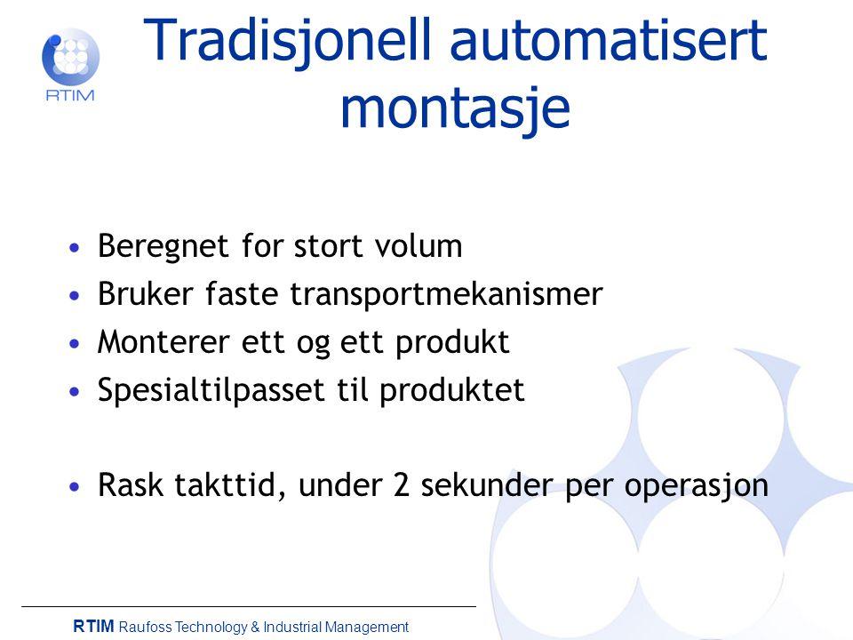 Tradisjonell automatisert montasje