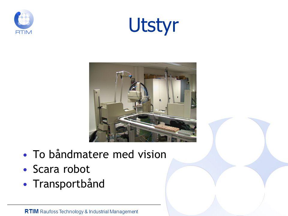 Utstyr To båndmatere med vision Scara robot Transportbånd