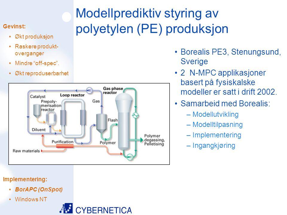 Modellprediktiv styring av polyetylen (PE) produksjon