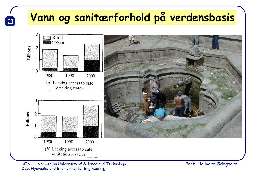 Vann og sanitærforhold på verdensbasis
