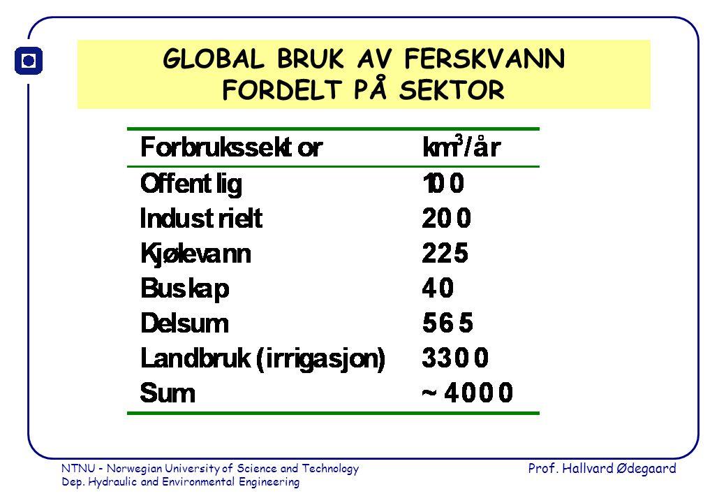 GLOBAL BRUK AV FERSKVANN