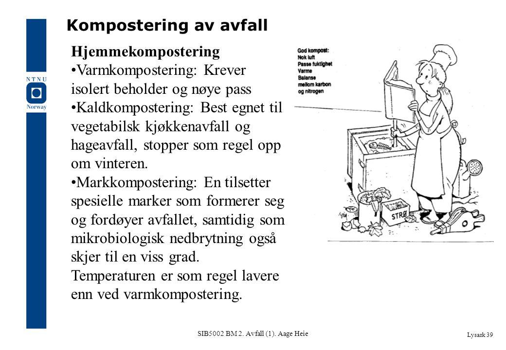 SIB5002 BM 2. Avfall (1). Aage Heie