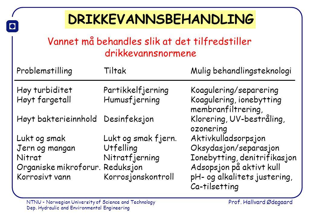 DRIKKEVANNSBEHANDLING